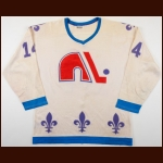 1975-76 Charles Constantin WHA Quebec Nordiques Game Worn Jersey
