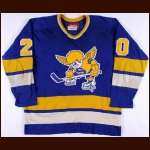 1975-76 Jack Carlson WHA Minnesota Fighting Saints Game Worn Jersey