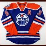 "2008-09 Ales Hemsky Edmonton Oilers Game Worn Jersey - Alternate - ""30-year Anniversary"" - Team Letter"