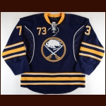 2016-17 Nick Baptiste Buffalo Sabres Game Issued Jersey – Rookie – Team Letter
