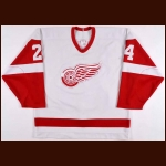 1988-89 Bob Probert Detroit Red Wings Game Worn Jersey
