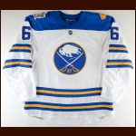 "2017-18 Marco Scandella Buffalo Sabres Winter Classic Game Worn Jersey – ""2018 Winter Classic"" – Photo Match – Team Letter"