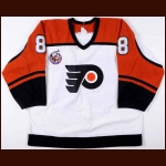 1992-93 Eric Lindros Philadelphia Flyers Game Worn Jersey - Rookie