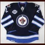 "2011-12 Chris Thorburn Winnipeg Jets Game Worn Jersey - ""Inaugural Game 10/9/11"" - Team Letter"