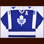 1987-88 Tom Fergus Toronto Maple Leafs Game Worn Jersey