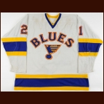 1984-85 Dwight Schofield St. Louis Blues Game Worn Jersey