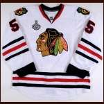 "2009-10 Ben Eager Chicago Blackhawks Game Worn Jersey – ""2010 Stanley Cup Finals"" – Stanley Cup Season - Team Letter"