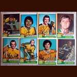1974-75 OPC Autographed Golden Seals group of 8