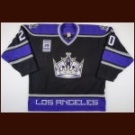 "2006-07 Raitis Ivanans Los Angeles Kings Warm-Up Jersey – ""20-Robitaille Night"" – Team Letter"