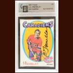 1971-72 J.C. Tremblay Montreal Canadiens Autographed Card – Deceased