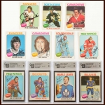 1975-76 OPC Autographed Card Group of (11) – Deceased