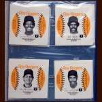 1983 Roy Rogers Yankees Disc Proof Set of 12