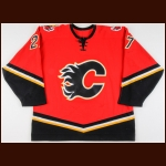 2003-04 Steven Reinprecht Calgary Flames Game Worn Jersey - Photo Match