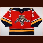 2003-04 Steve Shields Florida Panthers Game Worn Jersey – Alternate