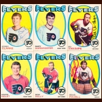1971-72 OPC Philadelphia Flyers Autographed Card Group of 13 – Rick MacLeish (Deceased)
