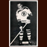 Bob Woytowich Boston Bruins Autographed Postcard - Deceased