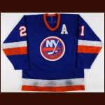 1986-87 Brent Sutter New York Islanders Game Worn Jersey