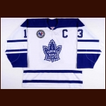 "2002-03 Mats Sundin Toronto Maple Leafs Game Worn Jersey – Alternate – ""HHOF"" - Photo Match – Hockey Hall of Fame Letter"