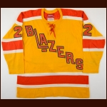 1974-75 Claude St. Sauveur WHA Vancouver Blazers Game Worn Jersey