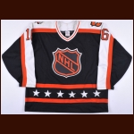 "1990 Brett Hull NHL All Star Game Worn Jersey – ""1990 NHL All Star - Photo Match – Brett Hull Letter"