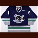 2010 James Neal Plymouth Whalers Pre-Season & 2010 Alumni Game Worn Jersey - Photo Match