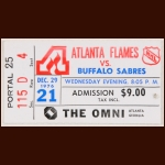 1976-77 Atlanta Flames Ticket Stub -  vs. Sabres