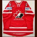 "2009 Luke Schenn Team Canada World Championships Game Worn Jersey - ""Zepter"" - Team Canada Letter"