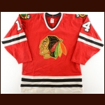 1986-87 Bill Watson Chicago Blackhawks Game Worn Jersey