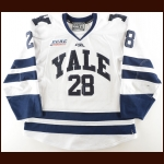 2016-17 Ryan Hitchcock Yale University Game Worn Jersey – NWHL Letter