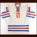Late 1970's Peter Stastny Team Czechoslovakia Game Worn Jersey