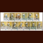 1973-74 Royal Bank Vancouver Canucks Autographed Group of (13) – Includes Deceased