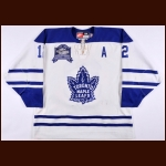 "1998-99 Kris King Toronto Maple Leafs Game Worn Jersey – ""Memories & Dreams"" – Alternate - Photo Match – Team Letter"