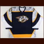 2005-06 Scott Hartnell Nashville Predators Game Worn Jersey - Photo Match