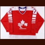1987-88 Merlin Malinowski Team Canada Game Worn Jersey