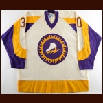 1973-74 Gary Kurt WHA New York Golden Blades Game Worn Jersey - Original Name on Back - Photo Match