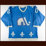 1976-77 Norm Dube WHA Quebec Nordiques Game Worn Jersey - Avco Cup Season