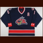 2005-06 Rick Nash Columbus Blue Jackets Game Worn Jersey – Team Letter