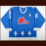 "1986-87 Michel Goulet Quebec Nordiques Game Worn Jersey – ""Rendezvous '87"" - 1st Team NHL All Star - Photo Match"