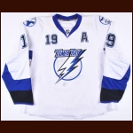 2007-08 Brad Richards Tampa Bay Lightning Game Worn Jersey - Photo Match