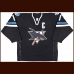 2002-03 Owen Nolan San Jose Sharks Game Worn Jersey – Alternate