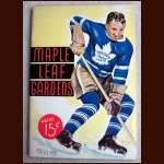 February 11, 1939 Toronto Maple Leaf Full Program
