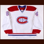 2007-08 Guillaume Latendresse Montreal Canadiens Game Worn Jersey – Team Letter