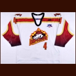"2007-08 Donny Grover Columbia Inferno Game Worn Jersey – ""20-year Anniversary"" – ECHL Letter"