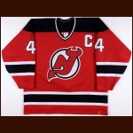 1994-95 Scott Stevens New Jersey Devils Game Worn Jersey - Stanley Cup Season - Photo Match