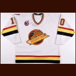 1992-93 Pavel Bure Vancouver Canucks Game Worn Jersey - Career Best 60-Goal & 110-Point Season - Photo Match - Video Match