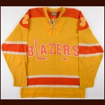 1972-73 Philadelphia Blazers Salesman Sample/Prototype Jersey