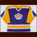 "1986-87 Joe Paterson Los Angeles Kings Game Worn Jersey – ""20-year Anniversary"""