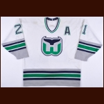 1995-96 Andrew Cassels Hartford Whalers Game Worn Jersey