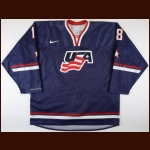 2010-11 Patrick Wey Team USA World Junior Championships Game Worn Jersey – Team USA Letter