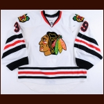 2008-09 Nikolai Khabibulin Chicago Blackhawks Game Worn Jersey - Photo Match – Team Letter